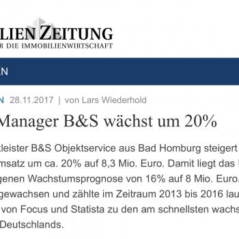B&S wächst um 20%